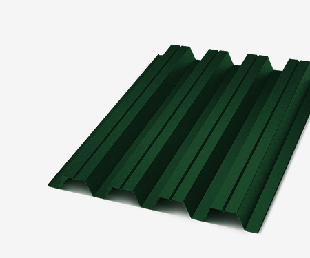Профнастил С-8 зеленый 0,35 мм (Ral 6005)