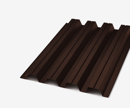 Профнастил С-21 коричневый 0,35 мм (Ral 8017)