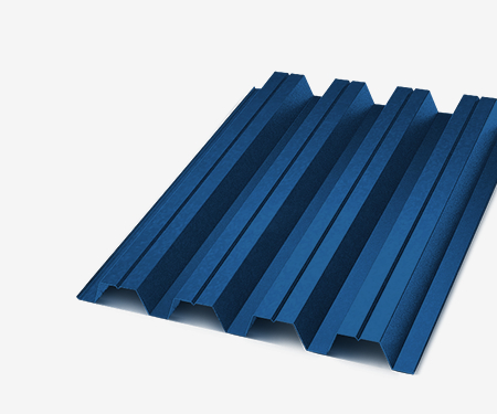 Профнастил С-21 синий 0,4 мм (Ral 5005)