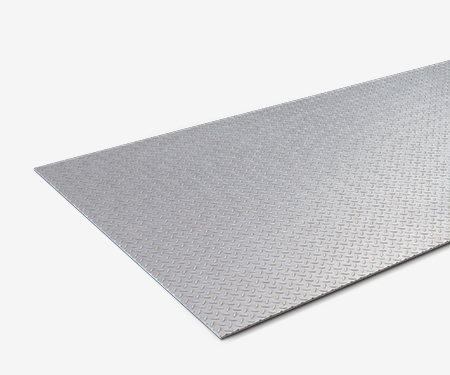 Лист стальной рифленый 1000х3000х2,5 мм
